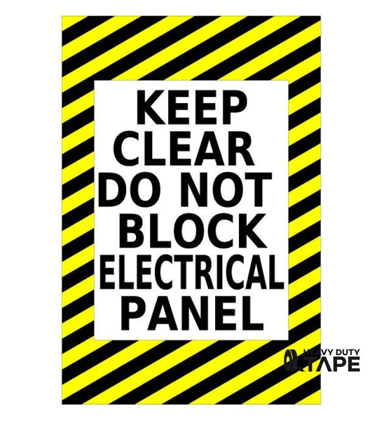 Keep Clear Caution Sign (Electrical Panel) - FloorTapeOutlet.com