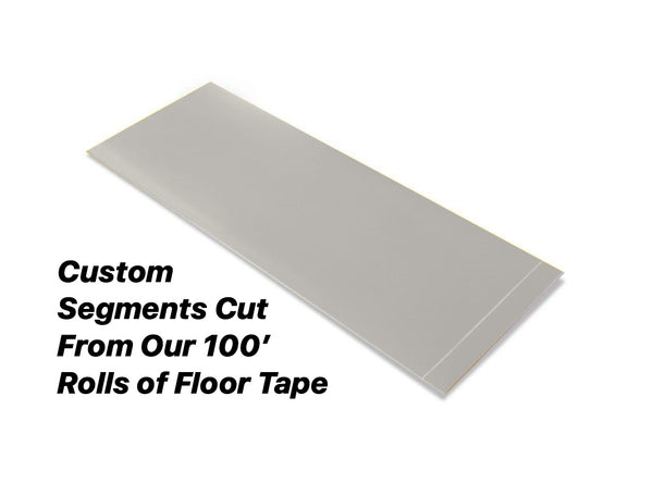 "Custom Cut Segments - 6"" GRAY Solid Color Tape - 100'  Roll"