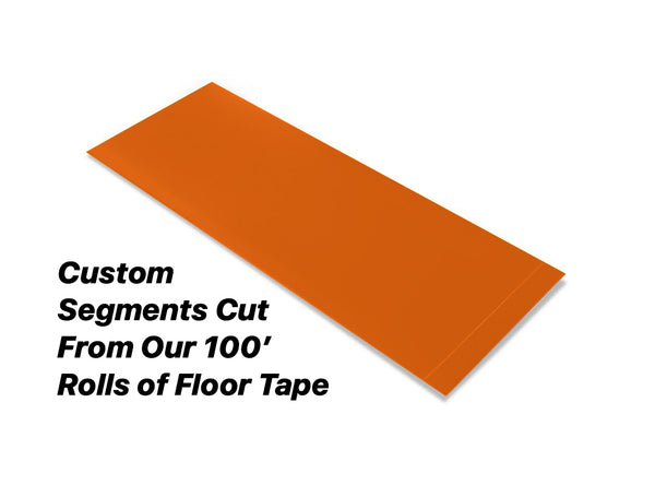 "Custom Cut Segments - 6"" ORANGE Solid Color Tape - 100'  Roll"