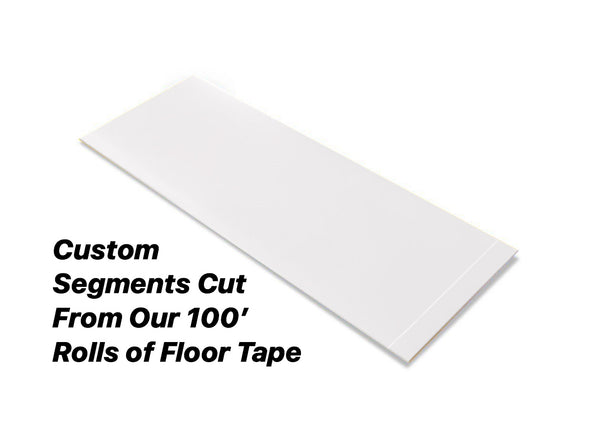 "Custom Cut Segments - 4"" WHITE Solid Color Tape - 100'  Roll"