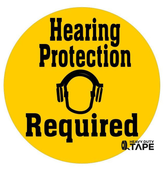 Hearing Protection Required Sign - FloorTapeOutlet.com