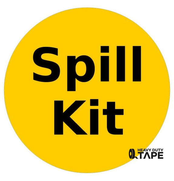 Spill Kit Available Here Sign - FloorTapeOutlet.com