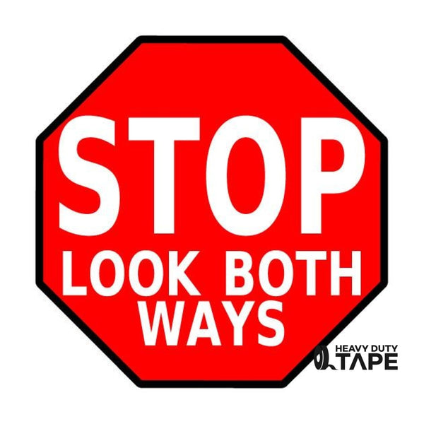 "STOP Look Both Ways Sign - 48"" - FloorTapeOutlet.com"