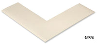 "2"" Wide Solid WHITE Angle - Pack of 25 - FloorTapeOutlet.com"