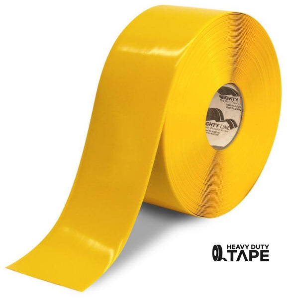 "4"" YELLOW Solid Color Tape - 100'  Roll - FloorTapeOutlet.com"