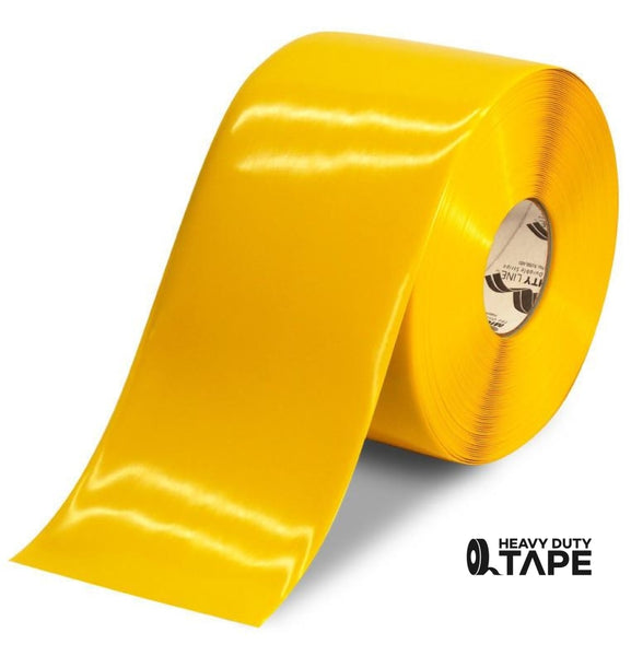 "6"" YELLOW Solid Color Tape - 100' Roll - FloorTapeOutlet.com"