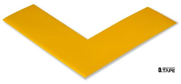 "2"" Wide Solid YELLOW Angle - Pack of 25 - FloorTapeOutlet.com"