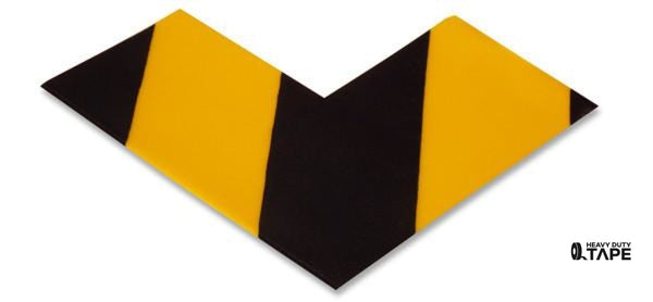 "3"" Wide Solid Yellow Angle With Black Chevrons - Pack of 25 - FloorTapeOutlet.com"