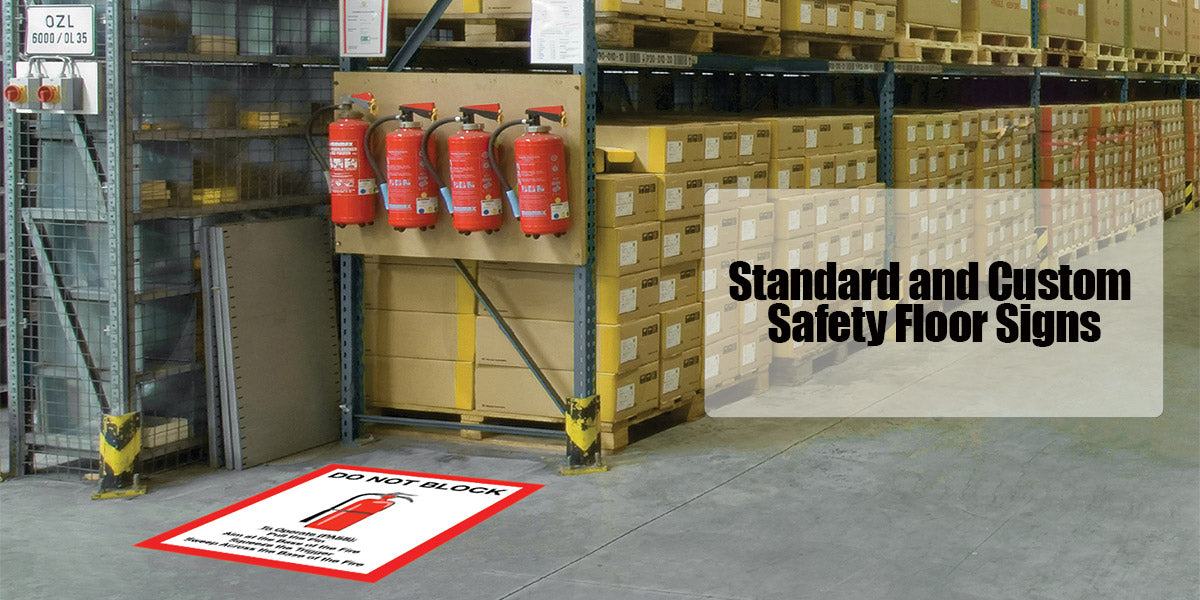 Standard and Custom Safety Floor Signs