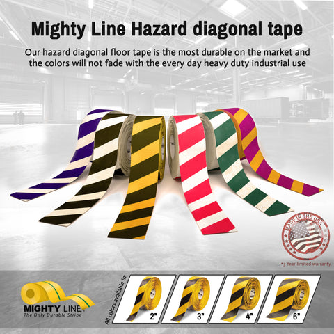 Mighty Line Hazard Floor Tape