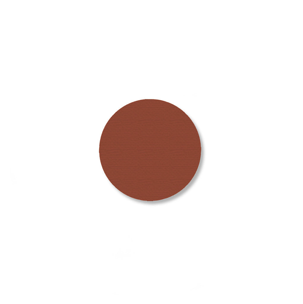 "1"" BROWN 5s Floor Marking DOT - Packs of 200"