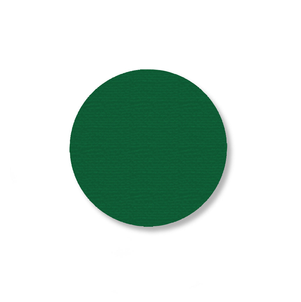 "2.7"" GREEN Solid DOT - Pack of 100"