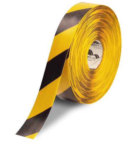 "2"" Yellow Floor Tape with Black Chevrons - 100'  Roll"