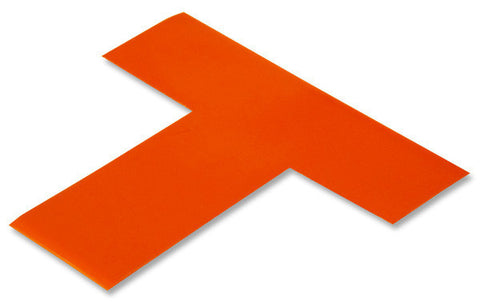 "2"" Wide Solid ORANGE 5s Floor Marking T - Pack of 25"