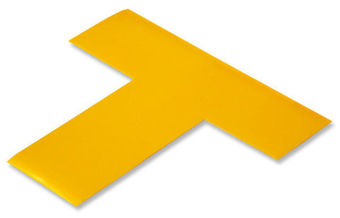 "2"" Wide YELLOW 5s Floor Marking T - Pack of 25"