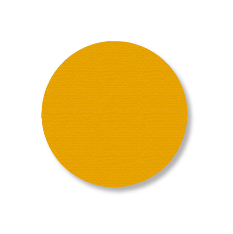"3.5"" YELLOW Solid 5s Floor Marking DOT - Stand. Size - Pack of 100"
