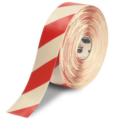 "3"" White Tape with Red Chevrons - 100'  Roll"