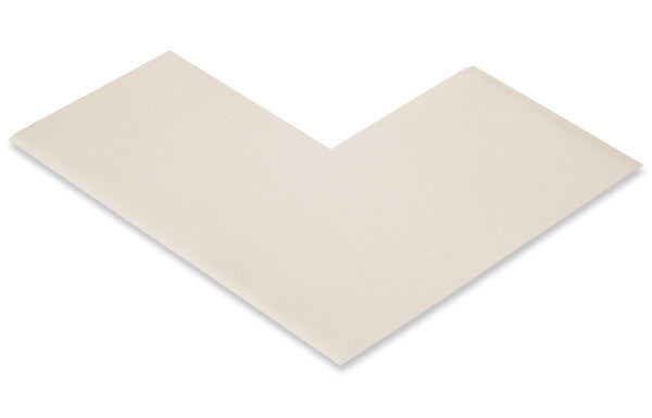 "3"" Wide Solid WHITE Angle - Pack of 25"