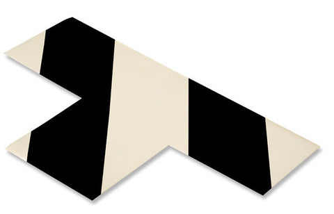 "3"" Wide Solid WHITE T With Black Chevrons - Pack of 25"