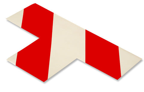 "3"" Wide Solid WHITE T With Red Chevrons - Pack of 25"