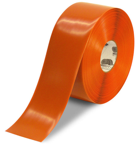 4 Inch Orange 5S Floor Tape - Mighty Line - 100 Foot Roll