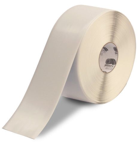4 Inch White 5S Floor Tape - Mighty Line - 100 Foot Roll