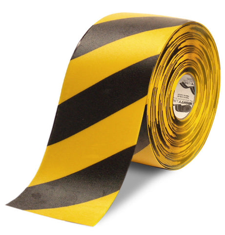"6"" Yellow Tape with Black Chevrons - 100'  Roll"