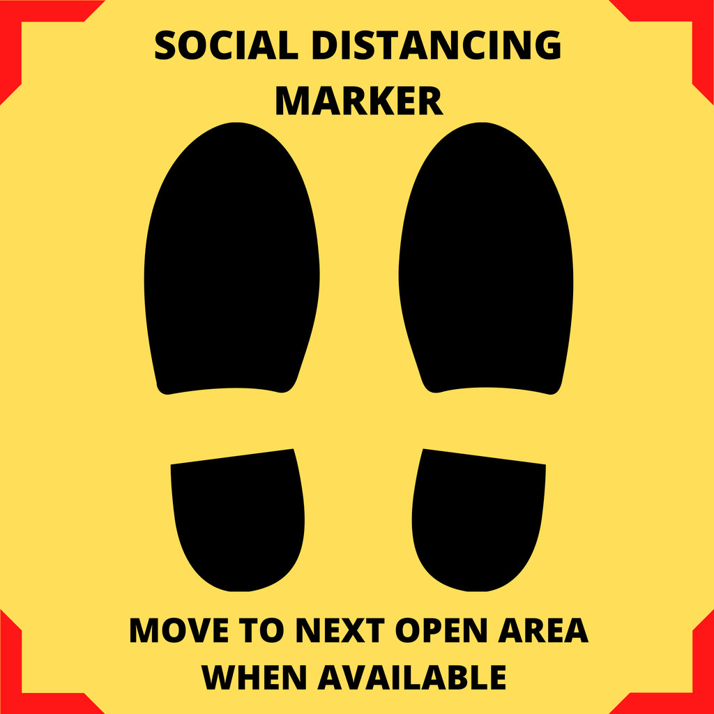 Social Distancing Safety Floor Signage
