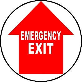 Emergency Exit - Red and White