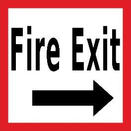 "Fire Exit Right 24""x24"""