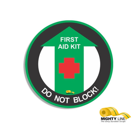First Aid Kit Do Not Block 24""