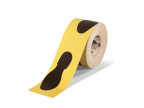 "6"" Wide Foot Print Floor Tape - 100'  Roll"