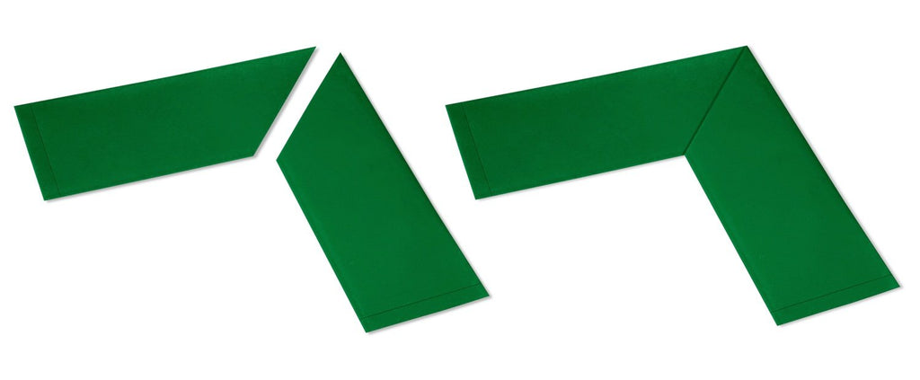 "4"" Wide Solid GREEN  10"" Long Angle - Pack of 25"
