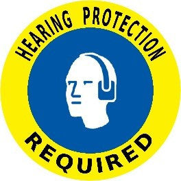 Hearing Protection Required - Yellow/Blue
