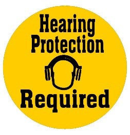 Hearing Protection Required - Yellow