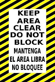 Keep Clear Do Not Block Spanish