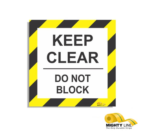 Keep Clear Do Not Block 24""