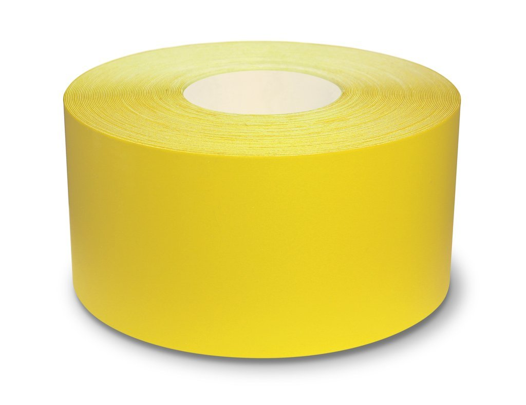 "4"" Yellow Ultra Durable 5s Floor Tape x 100 Feet - 971-Y4 (Better)"