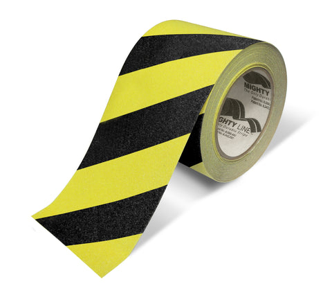 "4"" Yellow With Black Chevrons Anti-Slip Floor Tape - 60' Roll"