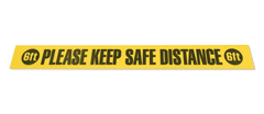 "Please Keep Safe Distance 6 FT Floor Tape Segments - 4"" x 36"" - Pack of 10"
