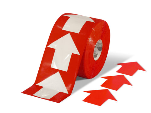 "5.5"" Wide Solid Red Arrow Roll 200 Arrows"