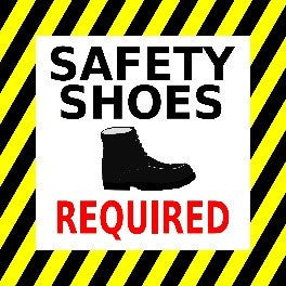 Safety Shoes Required