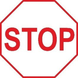 Stop Sign White