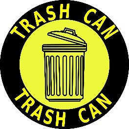 Trash Can - Yellow