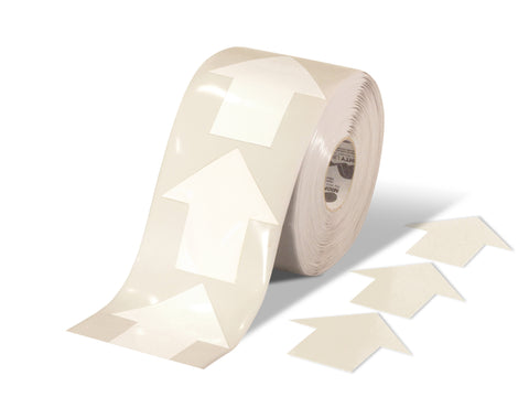 "5.5"" Wide Solid White Arrow Roll 200 Arrows"
