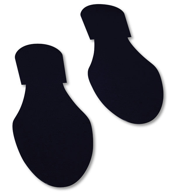 Solid Colored BLACK  Footprint - Pack of 50