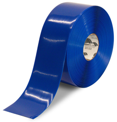 4 Inch Blue 5S Floor Tape -Mighty Line - 100 Foot Roll