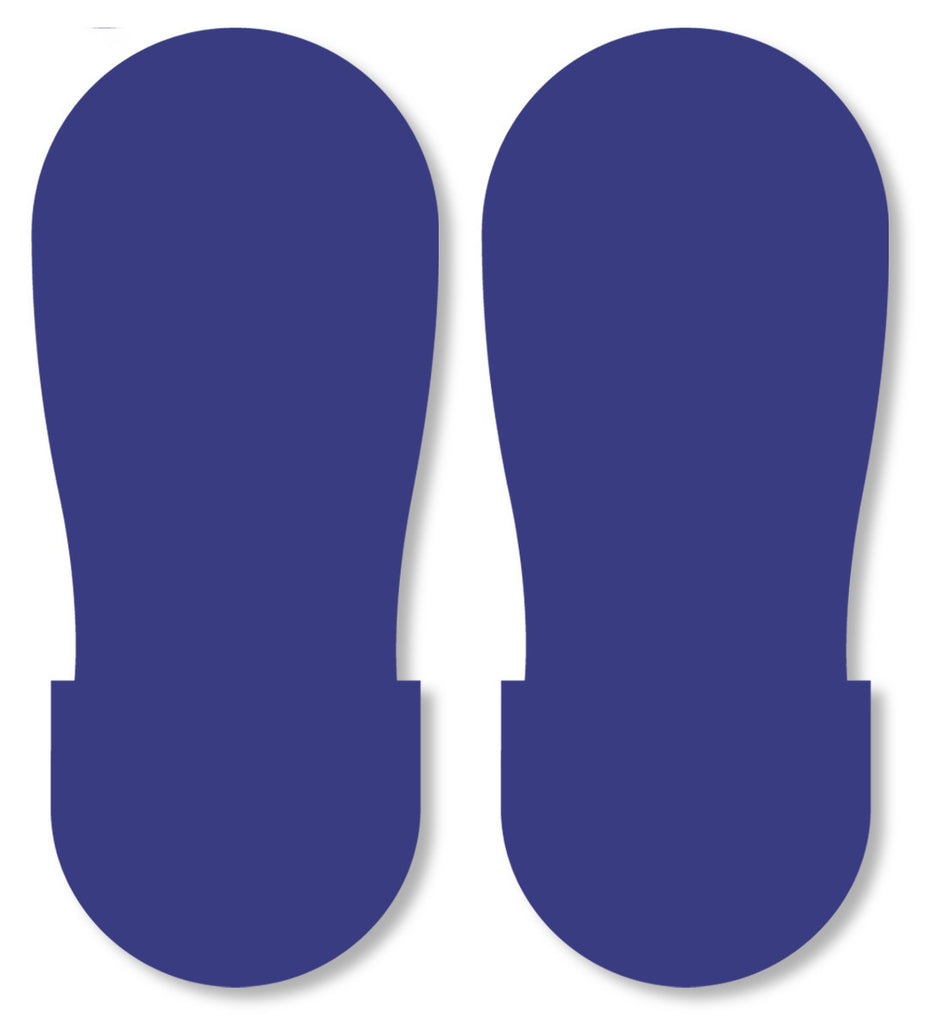 BLUE BIG Footprint - Pack of 50