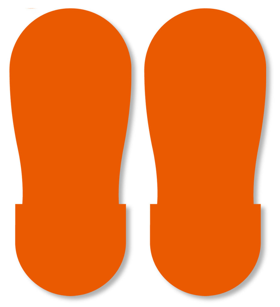 ORANGE BIG Footprint - Pack of 50