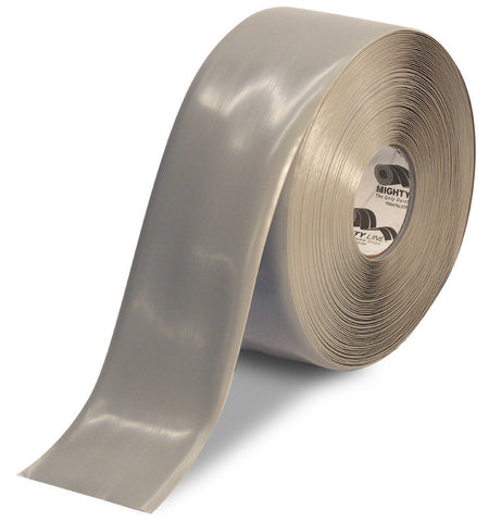 4 Inch Gray 5S Floor Tape - Mighty Line - 100'  Roll